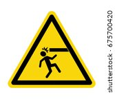 warning mind your head. sign ... | Shutterstock .eps vector #675700420