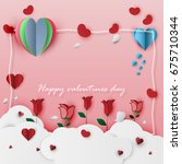 vector valentine's day card on... | Shutterstock .eps vector #675710344