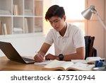 portrait of vietnamese student...   Shutterstock . vector #675710944