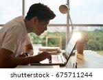 vietnamese university student... | Shutterstock . vector #675711244
