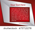 template silver  red and white... | Shutterstock .eps vector #675713278