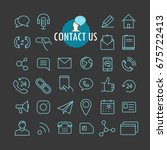 different contact icons vector...