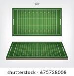 american football field. vector ... | Shutterstock .eps vector #675728008