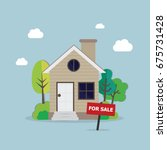 home for sales  | Shutterstock .eps vector #675731428