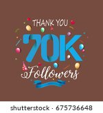 thank you design template for... | Shutterstock .eps vector #675736648