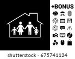 family home icon | Shutterstock .eps vector #675741124
