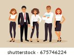 group of business people in... | Shutterstock .eps vector #675746224