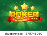 vector logo text poker and gold ...