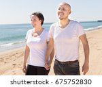 smiling couple of middle aged... | Shutterstock . vector #675752830