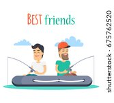 best friends outdoor leisure... | Shutterstock .eps vector #675762520