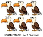 eagle with different facial... | Shutterstock .eps vector #675769363