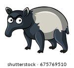 anteater on white background... | Shutterstock .eps vector #675769510
