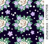 Seamless Pattern Of Flowers....