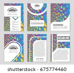 abstract vector layout... | Shutterstock .eps vector #675774460