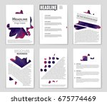 abstract vector layout... | Shutterstock .eps vector #675774469