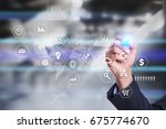 business and technology concept.... | Shutterstock . vector #675774670