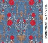 floral seamless pattern ... | Shutterstock .eps vector #675779446
