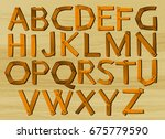 alphabet characters from a to z ...   Shutterstock .eps vector #675779590