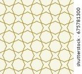 seamless vector ornament in... | Shutterstock .eps vector #675781300