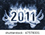 happy new year background with... | Shutterstock . vector #67578331