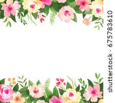 bohemian watercolor flower... | Shutterstock . vector #675783610