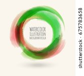 watercolor circle texture. ink... | Shutterstock .eps vector #675783658