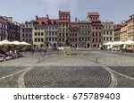 old town square in warsaw ... | Shutterstock . vector #675789403