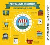 supermarket infographic banner... | Shutterstock .eps vector #675794494