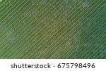 aerial top view of vineyards... | Shutterstock . vector #675798496