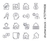 real estate realtor deals icon... | Shutterstock .eps vector #675799408