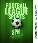 soccer league flyer design... | Shutterstock .eps vector #675800494