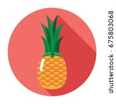 pineapple icon. flat pineapple... | Shutterstock .eps vector #675803068