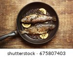 Frying Pan With Tasty Trout...