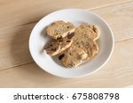 nuts cookies in small white... | Shutterstock . vector #675808798