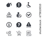 caution and attention icons.... | Shutterstock .eps vector #675810010