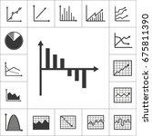 set of simple graph  diagram... | Shutterstock .eps vector #675811390