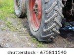 wheel and dirt | Shutterstock . vector #675811540