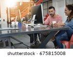 startup people working in office | Shutterstock . vector #675815008