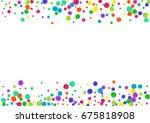 watercolor rainbow colored... | Shutterstock . vector #675818908