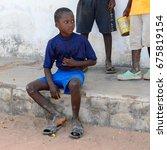 bubaque  guinea bissau   may 5  ... | Shutterstock . vector #675819154