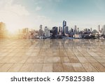 landscaped bangkok cityspace in ... | Shutterstock . vector #675825388