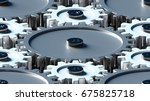 design element. 3d illustration.... | Shutterstock . vector #675825718