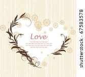 greeting card for valentine's... | Shutterstock .eps vector #67583578