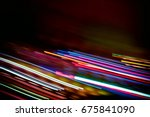 abstract lines like electrical... | Shutterstock . vector #675841090