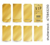 golden ticket vip template... | Shutterstock .eps vector #675843250
