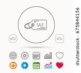 sale shopping tag icon.... | Shutterstock .eps vector #675844156