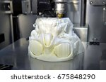 3d printer prints the form of... | Shutterstock . vector #675848290