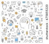 modern line web concept for... | Shutterstock .eps vector #675855220