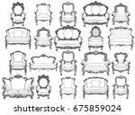 vintage baroque luxury style... | Shutterstock .eps vector #675859024