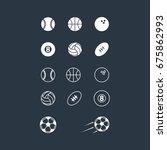 sports balls icon set | Shutterstock .eps vector #675862993